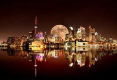 Full Moon Toronto Stock Images