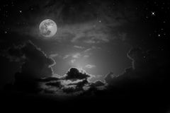 Full moon under cloud Royalty Free Stock Image