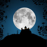 Full Moon Vector Illustration Royalty Free Stock Photography