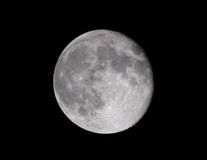 Full moon. Moon with visible craters. Taken with Tal 1 telescope Stock Photo