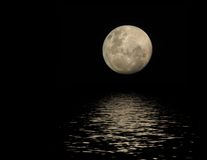 Full moon in water Stock Image