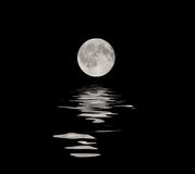 Full moon with water reflection Stock Image