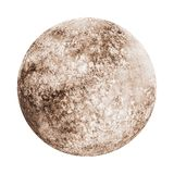 Full moon watercolor isolated. On white background. Watercolour hand drawn gray and beige earth satellite moon magic art work illustration. Abstract planet ball Royalty Free Stock Photos