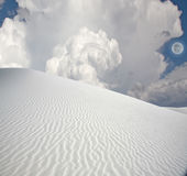 Full moon at White Sands Royalty Free Stock Images