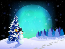 Full moon at winter night Stock Image