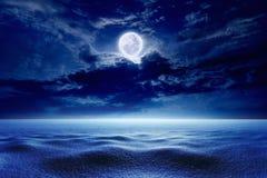 Full moon, winter weather stock image