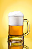 Full mug of lager beer Royalty Free Stock Photography