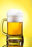 Full mug of lager beer Stock Image