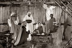Full Nativity Scene Stock Image