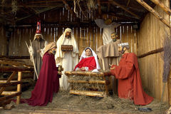 Full Nativity Scene Stock Images