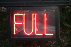 Full Neon Sign Stock Images