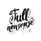 Full nonsense t-shirt print Stock Photos