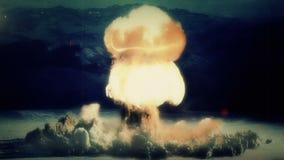 A Full Nuclear Detonation. A Nuclear Detonation. Realistic animation royalty free illustration
