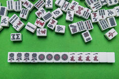 Free Full Of Mahjong Tiles On Green Background Royalty Free Stock Photography - 92138287