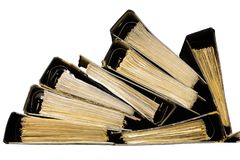 Full old binders Royalty Free Stock Photo
