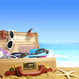Full open suitcase Royalty Free Stock Images