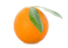 Full orange with leaves Royalty Free Stock Image