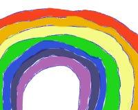 Full-Page Child-like Rainbow stock illustration