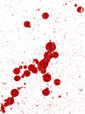 Full Page of Grunge Splats. Full Page of Dark Red grunged Splats Stock Images