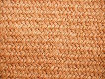 A full page of synthetic faux material. Macro brown sweater, knitted wool texture. View of top on background texture Stock Photography