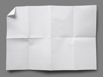 Full page of White paper folded Royalty Free Stock Photography