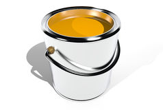 Full paint can (3D) Royalty Free Stock Photography