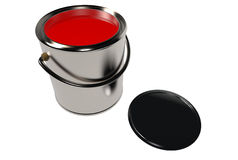 Full paint can and cover (3D) Stock Photography