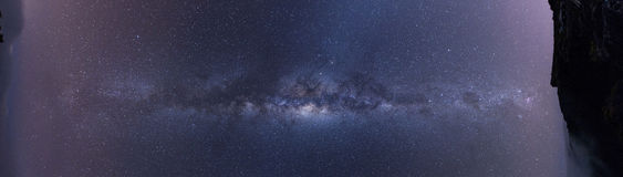 Full panoramic view of the milky way Royalty Free Stock Photo