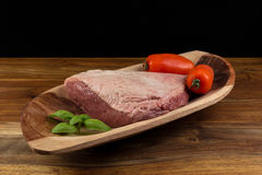 Full piece of cow beef  table Royalty Free Stock Photo