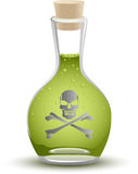 Full Poison Bottle Stock Photo