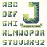Full polygonal triangular alphabet. Trendy typeset for your design Stock Photos