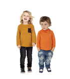 Full portrait with children Royalty Free Stock Photos