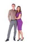 Full portrait of happy attractive couple man and woman Royalty Free Stock Photos