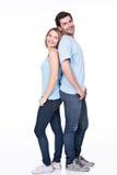 Full portrait of happy couple. Stock Image