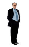 Full pose of a smiling senior company director Royalty Free Stock Photos