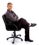 Full pose of stylish successful person Royalty Free Stock Photo