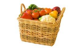 full produce för korg arkivfoton