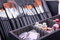 Full Professional Make-up Case Royalty Free Stock Image