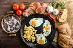 Full protein breakfast Royalty Free Stock Images