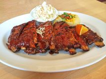 Full Rack BBQ Ribs Royalty Free Stock Photos