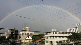 Full Rainbow in Honolulu Hawaii in Rainy season