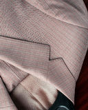 Full rambakgrund av tyg och detalj från mäns dräkter Royaltyfria Bilder
