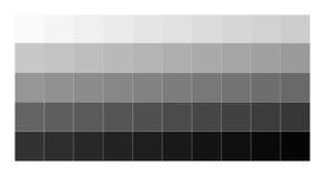 Full range of gray tones from white to black Stock Photos
