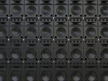 Full range speakers background. Full range speakers - isolated on white background Stock Images