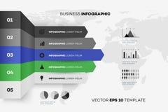 Full redigerbar affär Infographic Vektormall och modell Royaltyfri Bild
