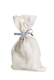 Full sack with ribbon Royalty Free Stock Photos