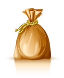 Full sack tied by rope Royalty Free Stock Photo