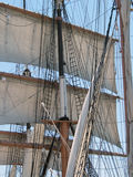 Full Sails. Mast and rigging stock photos