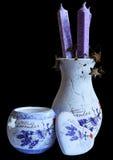 Full sammansättning för lavendel arkivfoto