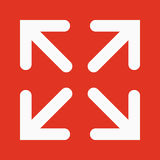 The full screen icon. Arrows symbol. Flat Stock Photos